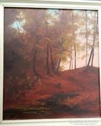 Kárpátaljai festmény - Erdőrészlet