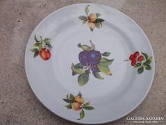 Ritka Zsolnay gyümölcsmot.tányér átm.26 cm