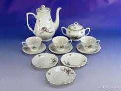 0I589 Régi lengyel porcelán kávés készlet