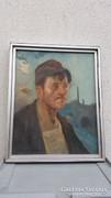 Zórád Géza (1896-1959)  Munkásportré.
