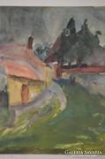 Patay Éva (1900-1984) - Életképek (8 db akvarell)