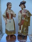 Antik szoborpár Nagyméretű Jancsi és Iluska