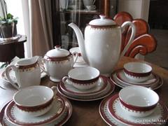 FRANCIA SARREGUEMINES 6 személyes teás-süteményes készlet