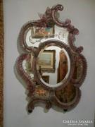 Velencei tükör rózsaszín-fehér