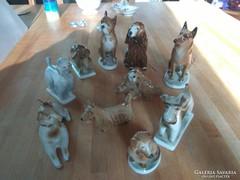 Zsolnay kutya gyűjtemény 10 db
