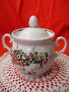 Ritka Orosz Riga porcelán aranyozott cukortartó
