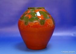 0I620 Retro kerámia váza 16 cm