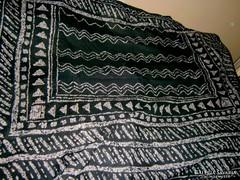Batikolt díszítéssel 100 % pamut kendő 144 cmX 110 cm