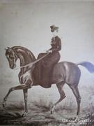 1878 ERZSÉBET KIRÁLYNÉ SZISZI CABINET GOTÓ FÉNYKÉP FOTÓLAP LOVAGLÁS