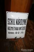 Zománctábla - Schill Károlyné