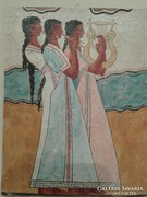 Görög freskó falikép 24x30x1 cm