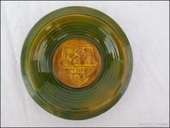 Jelzett címeres kerámia  falitányér