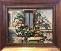 T. Varga László: Virágos ablak