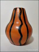 Tófej kerámia váza 11 cm.