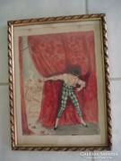 Abonyi Ernő akvarell szép keretben