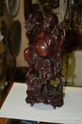 Kínai fa faragott Buddha figura