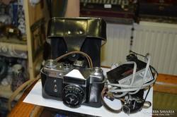 Zenit-E fényképezőgép + tartozékok