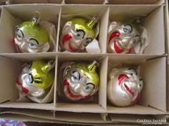 RÉGI üveg FiGURA karácsonyfadísz DARABRA KARÁCSONY