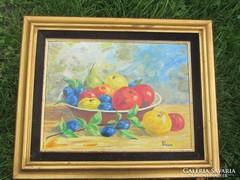 Asztali gyümülcs csendélet festmény 44X54 CM