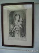 Régi évszámos metszet keretben (1835)