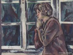 """Szentgyörgyi Kornél : """"Ülő nő"""" 1963"""