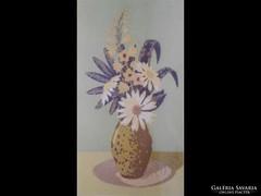 Y719 Jánosi Sándor : Margarétás virágcsendélet