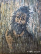 Zenovitz Zenó: Próféta nagyméretű  olaj vászon festmény 59x69 cm