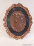 Berán Lajos Santo Cristo De Limpias bronz plakett