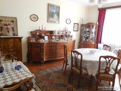 100 éves 15 darabos Neobarokk (Chippendale) ebédlő garnitúra