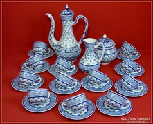 Zsolnay kávéskészlet 12 személyes gyönyörű Perzsa forma