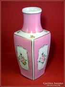 Hollóházi rózsaszínű váza