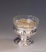Ezüst kis üveges kínáló/ bonbonier