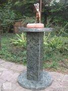 Zöld erezett  Márvány posztamens-virágállvány-szoborállvány