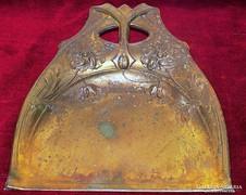 Antik réz Szecessziós morzsalapát,