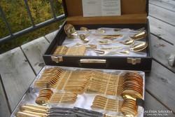 EXTRÉM RITKA! leírhatatlan szépségű a  mintázata LUXUS rózsa arany evőeszköz 24 kar.arany evőeszköz