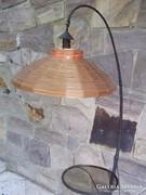 Retro kovácsoltvas állólámpa ernyővel Iparművészeti 70-es évek