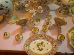 Extra Luxus ritka kuriózum Herendi Rothschild 220db.porcelán.Az országban egyedülálló gyüjtemény!