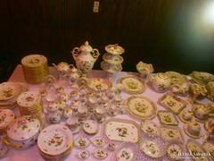 Extra Luxus ritka kuriózum Herendi Rothschild 220db.porcelán