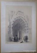Francois Stroobant.  Brüsszel - Notre Dame.1842