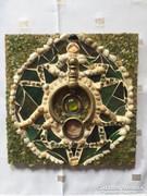 Zöld kavicsmozaik falikép - art mosaic from stone (15)