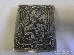 Antik 800-as ezust tabatiere 1900-as evekbol