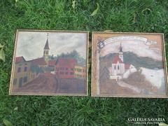 Carl v. Karl Bauer fára 1868/1942  festve 41x36 cm mindkettő