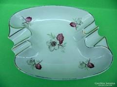 Drasche porcelán retró virágmintás hamutartó