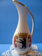 Bavaria füles porcelán váza berlini címerrel