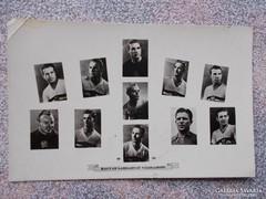 Magyar labdarugó válogatott, 1954. képeslap.original