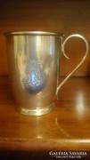 Antik ezüst keresztelő pohár