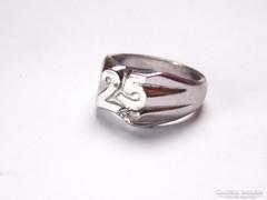25 éves jubileumra készített ezüst gyűrű