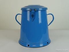 0I957 Régi kék zománcozott zsírosbödön 15 liter
