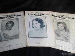 MAGYAR ÚRIASSZONYOK LAPJA 3 ÚJSÁG kézimunka ételrecept 1931