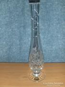 Jelzett 24%PbO kristály üveg váza (fp)